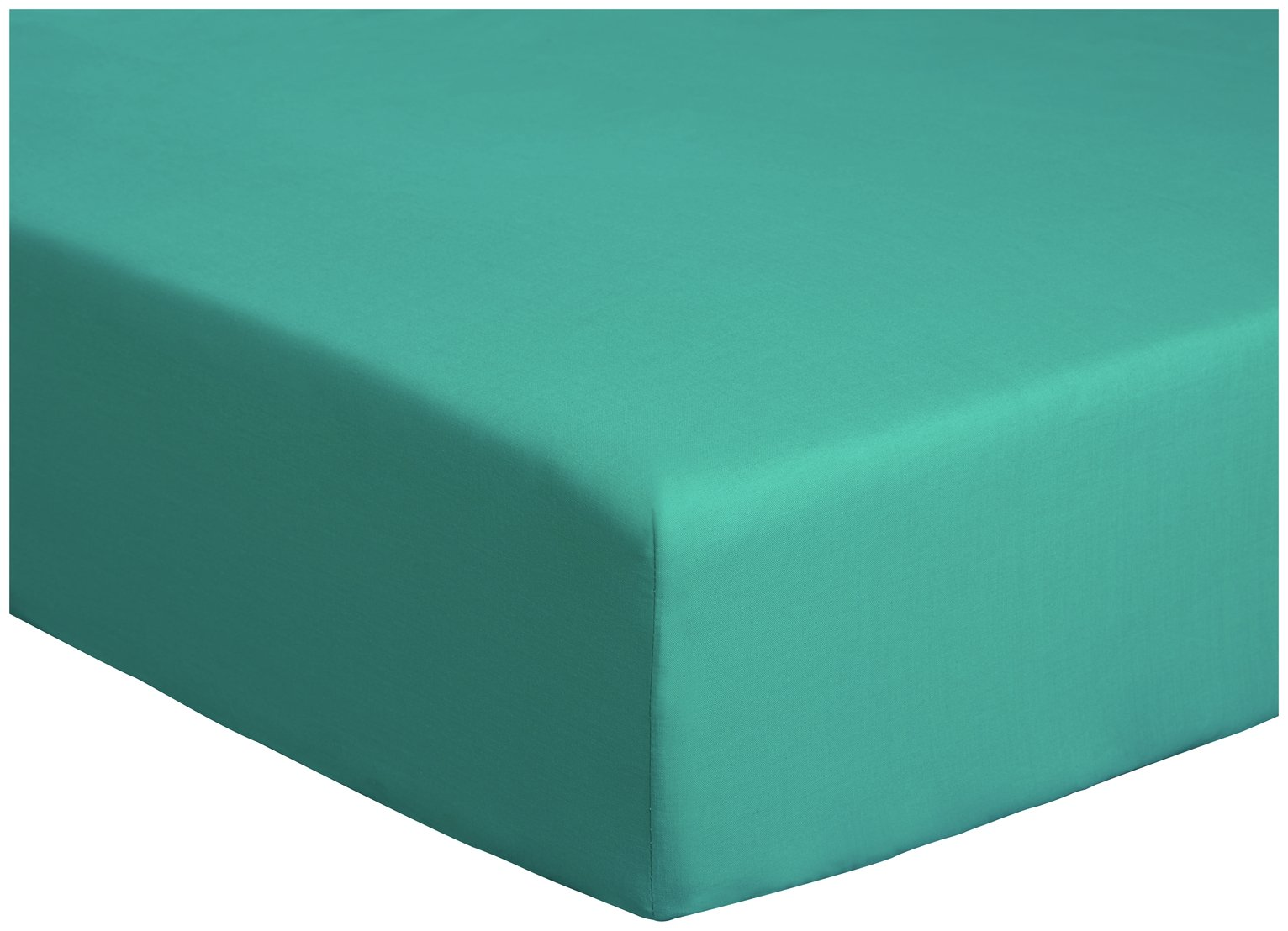 colourmatch teal fitted sheet  kingsize
