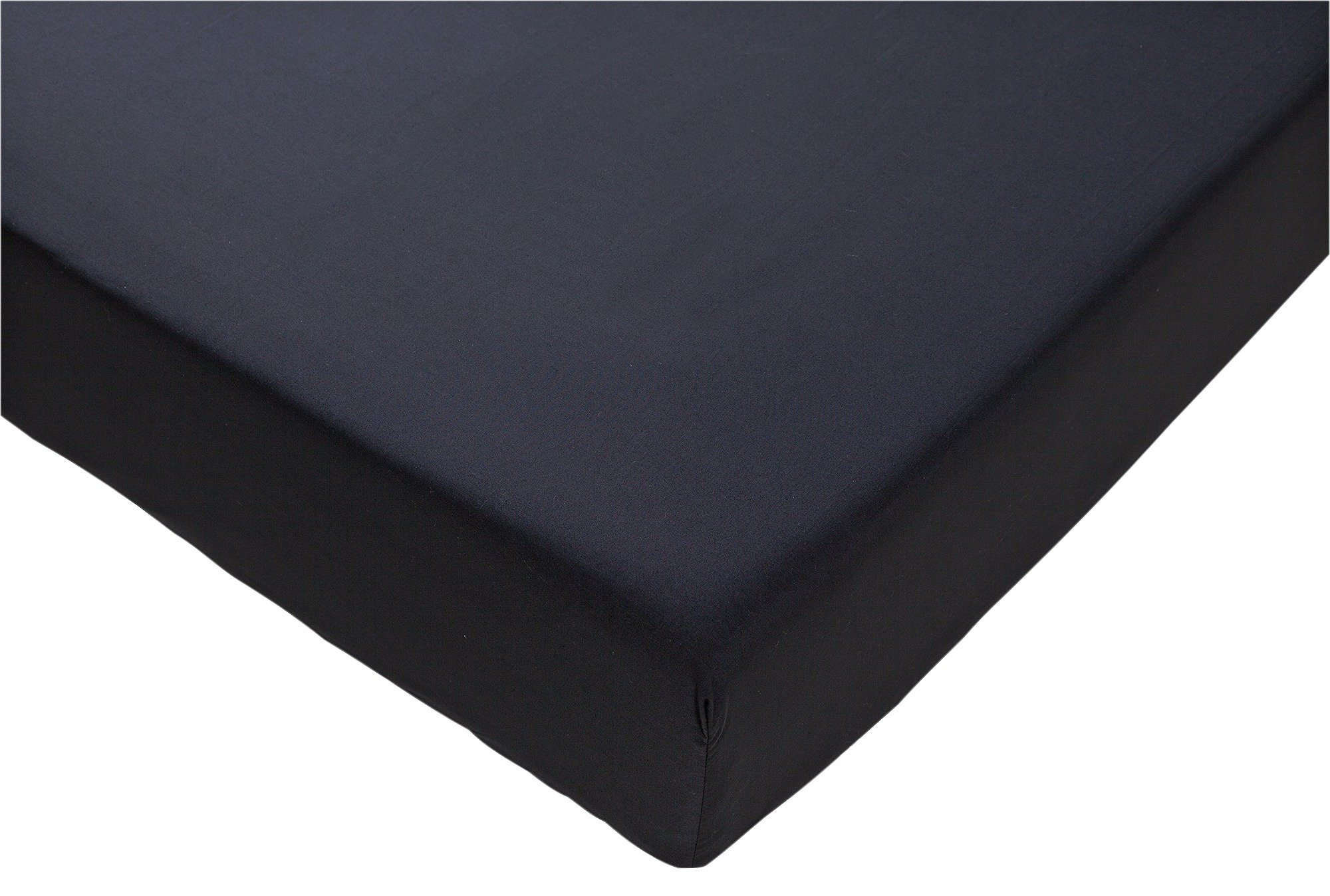 collection black non iron fitted sheet  single