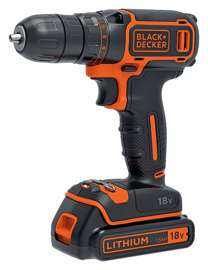 Image of Black and Decker - Drill Driver with 1 Battery - 18V