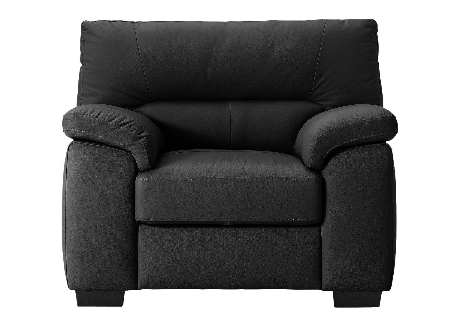 Argos Home Piacenza Leather Armchair - Black
