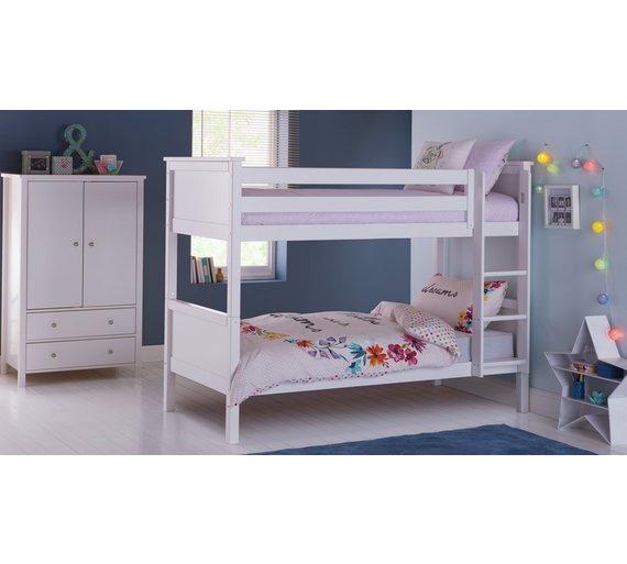 Buy Argos Home Brooklyn Bunk Bed With Kids Mattress White Kids