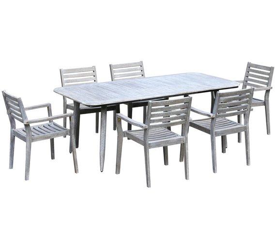 Buy Lexington 6 Seater Wooden Garden Patio Set | Garden table and ...
