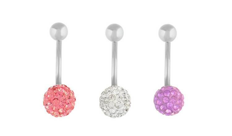 State of Mine Crystal Ball Belly Bars - Set of 3