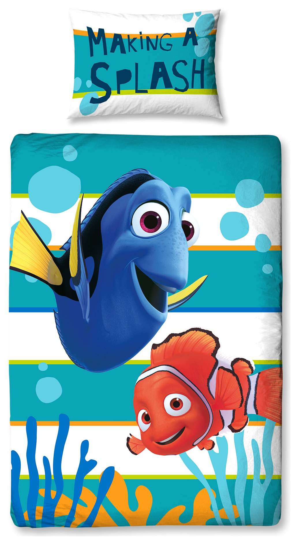 image for Disney Finding Nemo Dory Duvet Cover Set - Single.