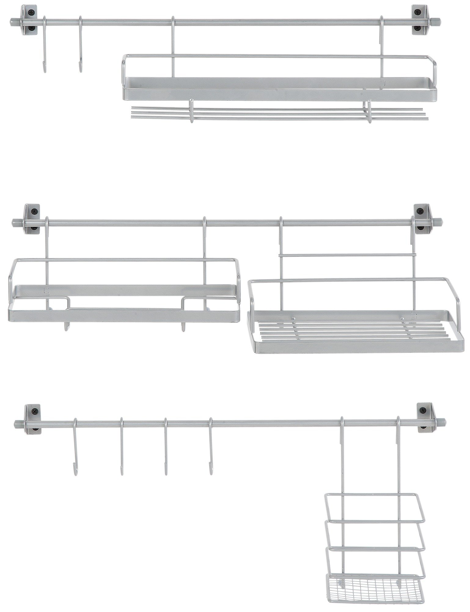 Image of HOME - Kitchen Shelf with Hanging Attachments
