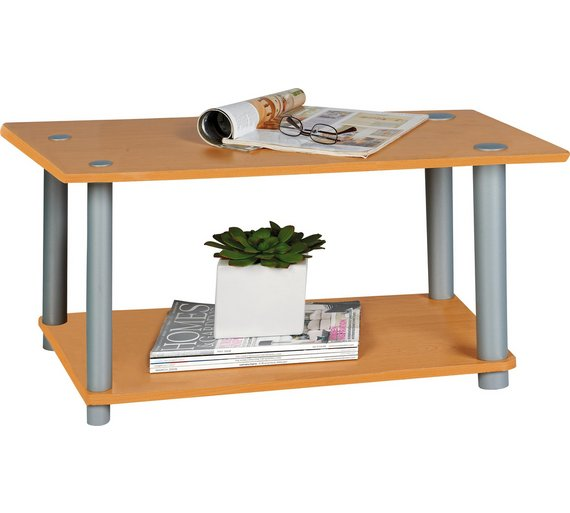 Buy Home Verona 1 Shelf Coffee Table Beech Effect At
