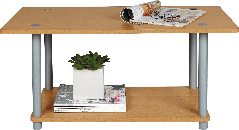 'Home - Verona 1 Shelf - Coffee Table - Beech Effect