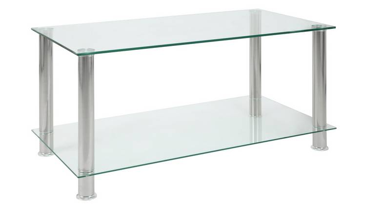 Argos Home Matrix Coffee Table - Clear Glass