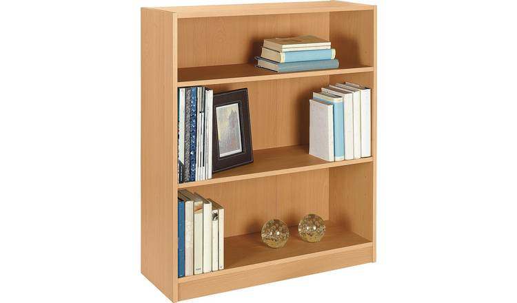 Argos Home Maine 2 Shelf Small Bookcase - Beech Effect