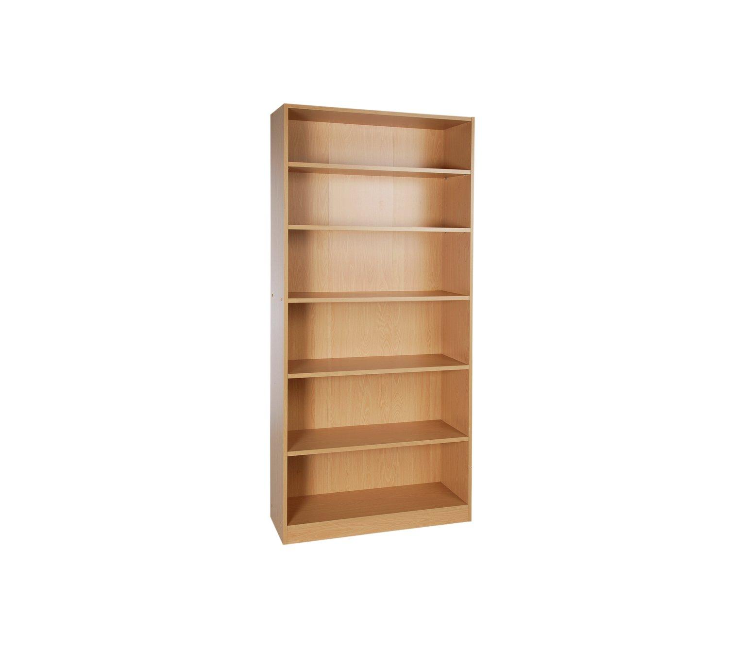 Argos Home Maine 5 Shelf Wide Deep Bookcase - Beech Effect