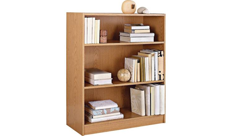 Habitat Maine 2 Shelf Small Bookcase - Oak Effect