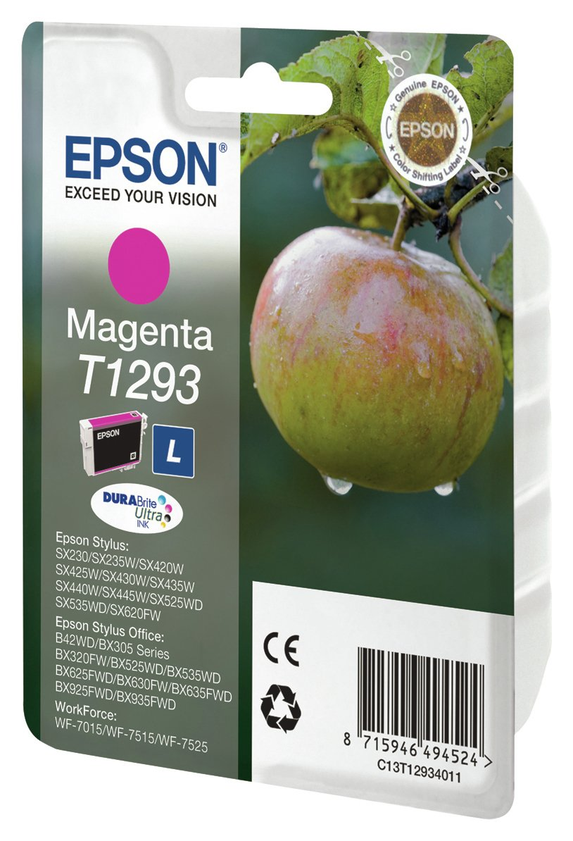 Image of Epson Apple T1293 Standard Ink Cartridge - Magenta.