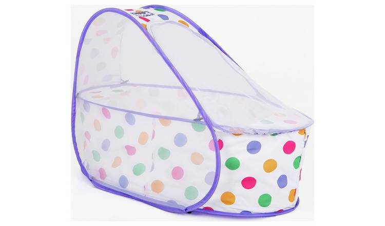 Koo-di Pop-Up Travel Basinette Cot - Pastel Polka