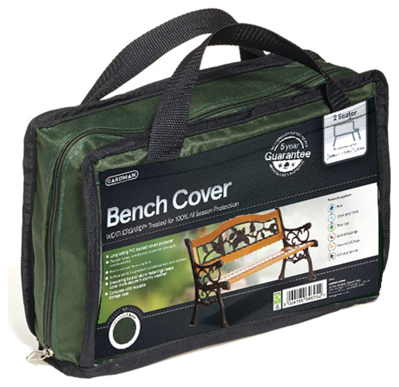 Gardman - 2 Seater Bench Cover - Green lowest price