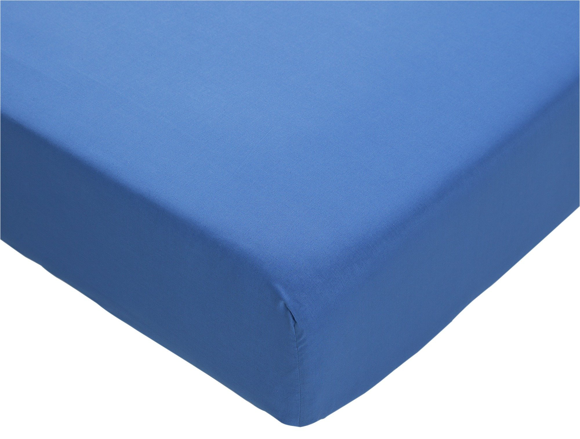 colourmatch ink blue fitted sheet  double