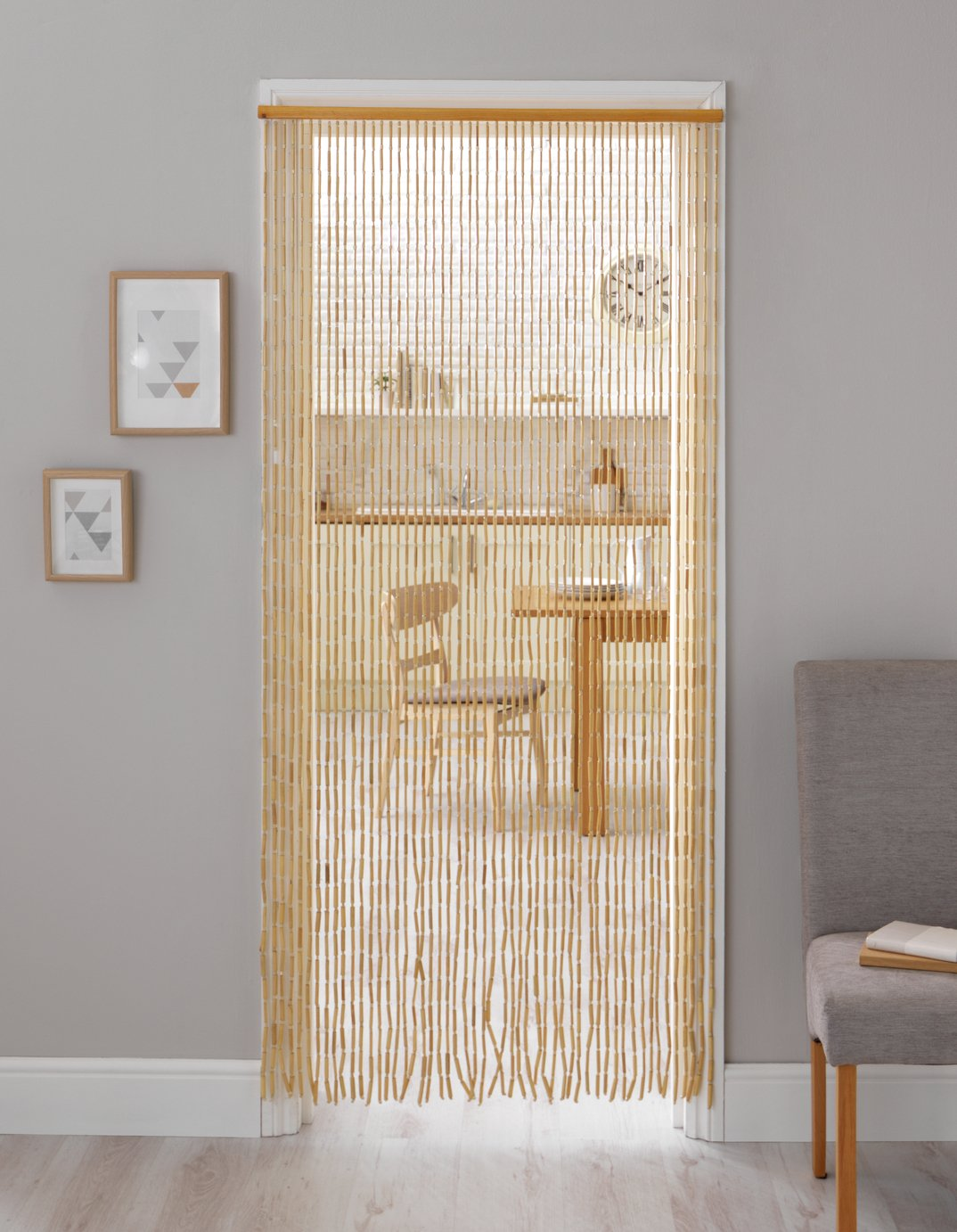 sale on home beaded door curtain natural home by argos. Black Bedroom Furniture Sets. Home Design Ideas