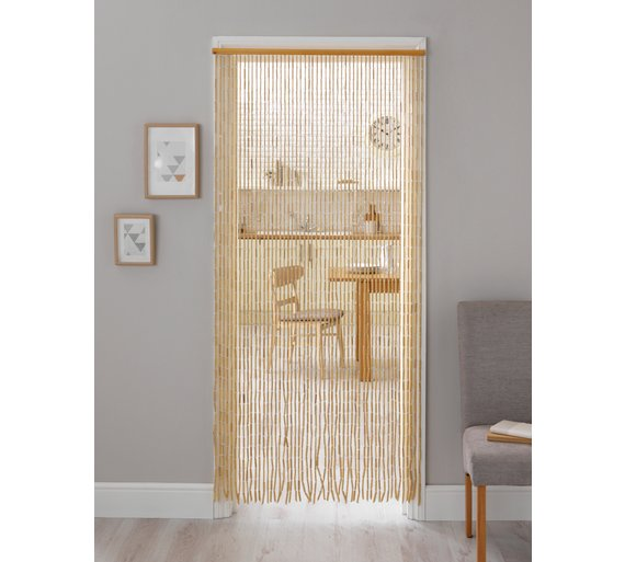 Buy Argos Home Beaded Door Curtain - Natural | Curtains | Argos