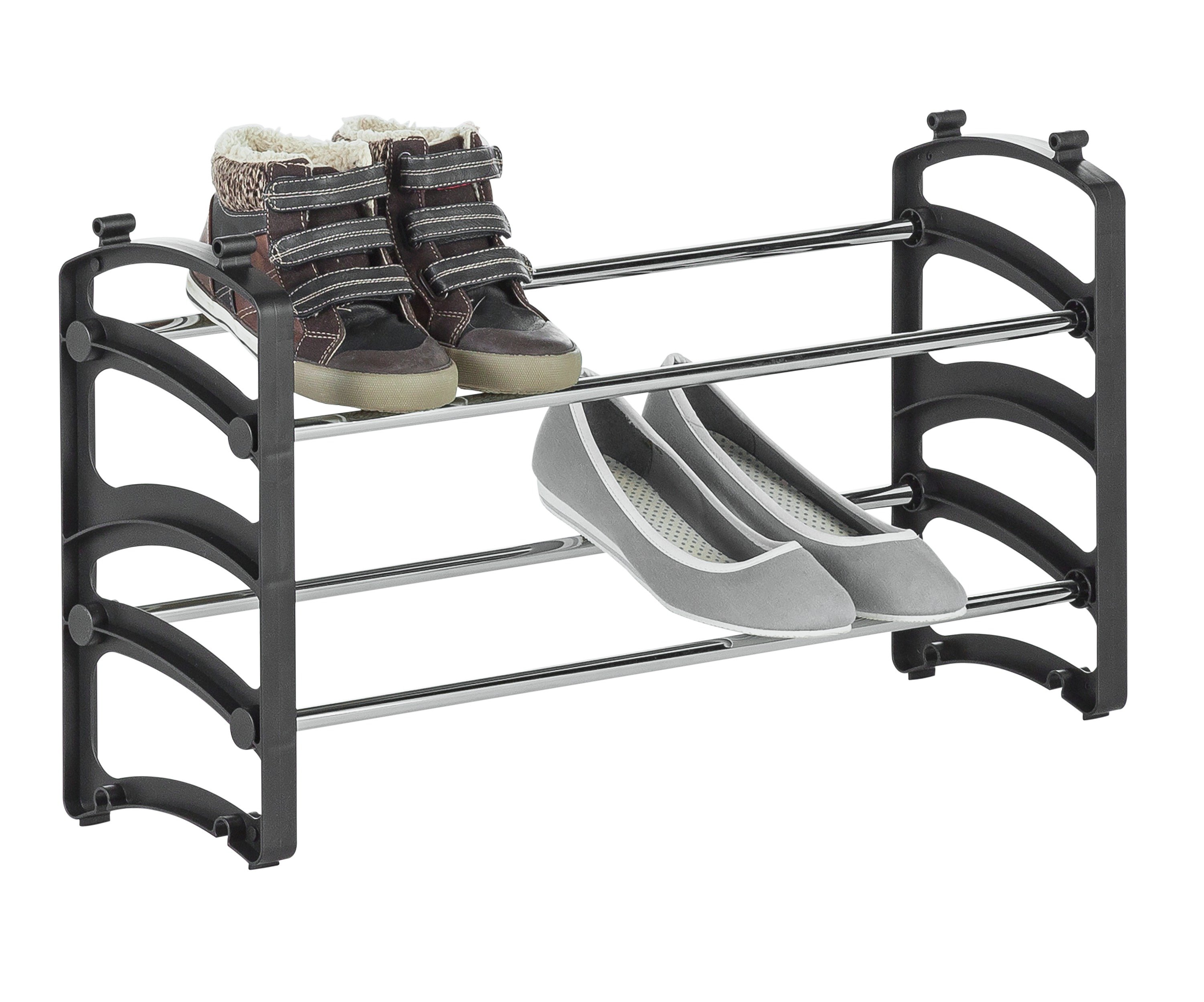Argos Home 2 Tier Stackable Shoe Rack