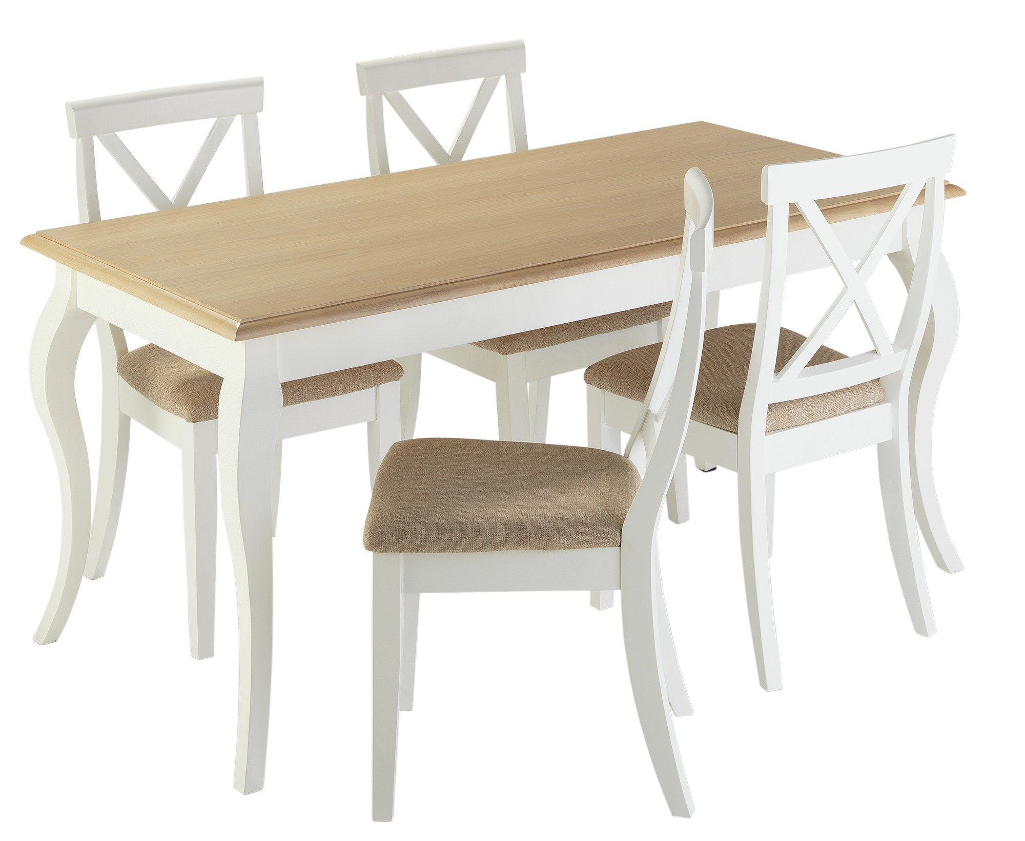 Buy Collection Southwold Dining Table   Chairs - Two Tone at