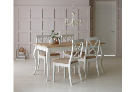 Collection Southwold Dining Table & 4 Chairs - Two Tone.