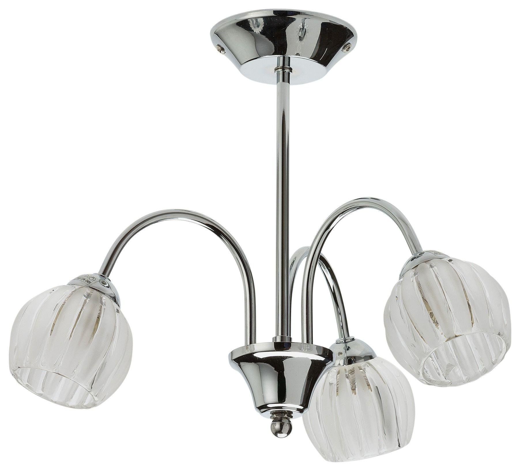 collection abbey 3 light chrome and glass downlight review. Black Bedroom Furniture Sets. Home Design Ideas