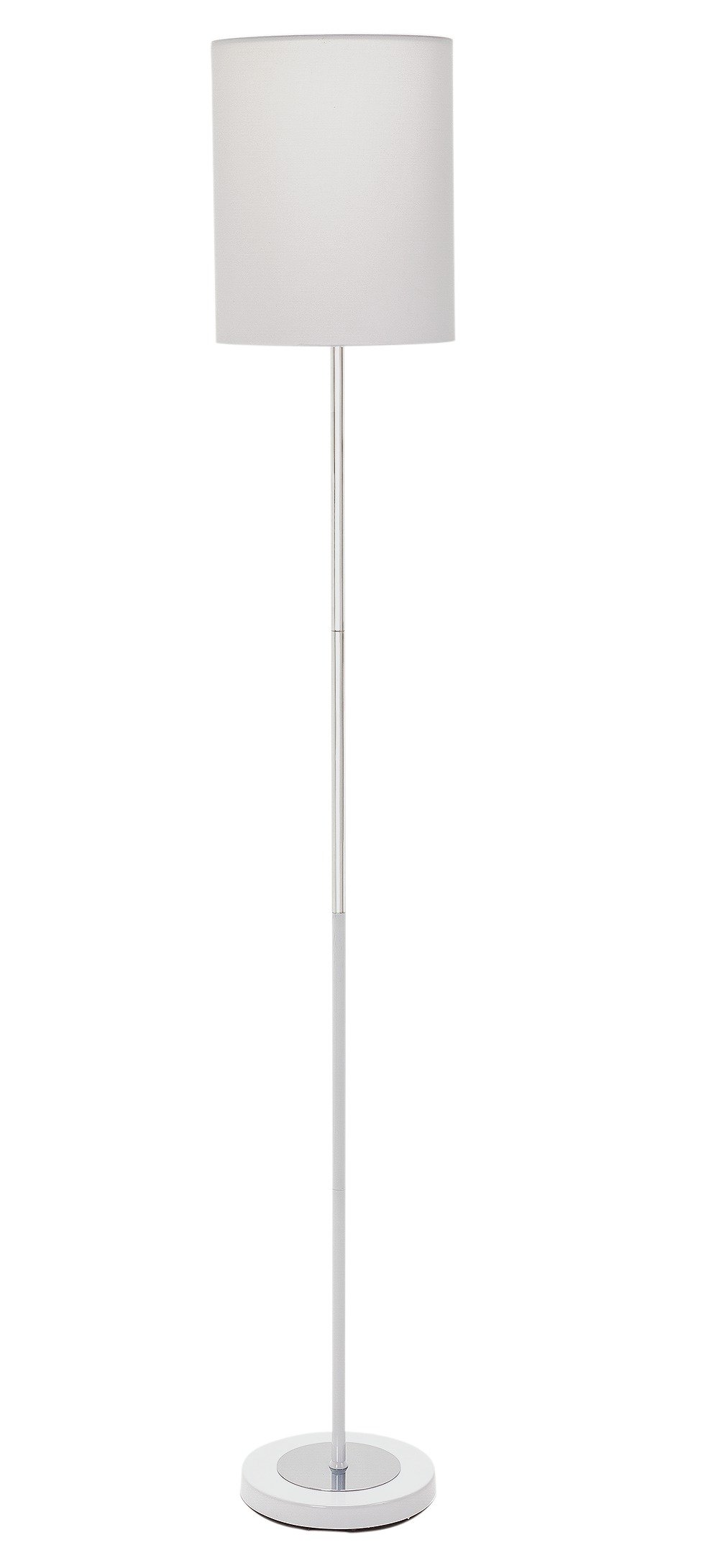 hygena  chrome stick  floor lamp  white