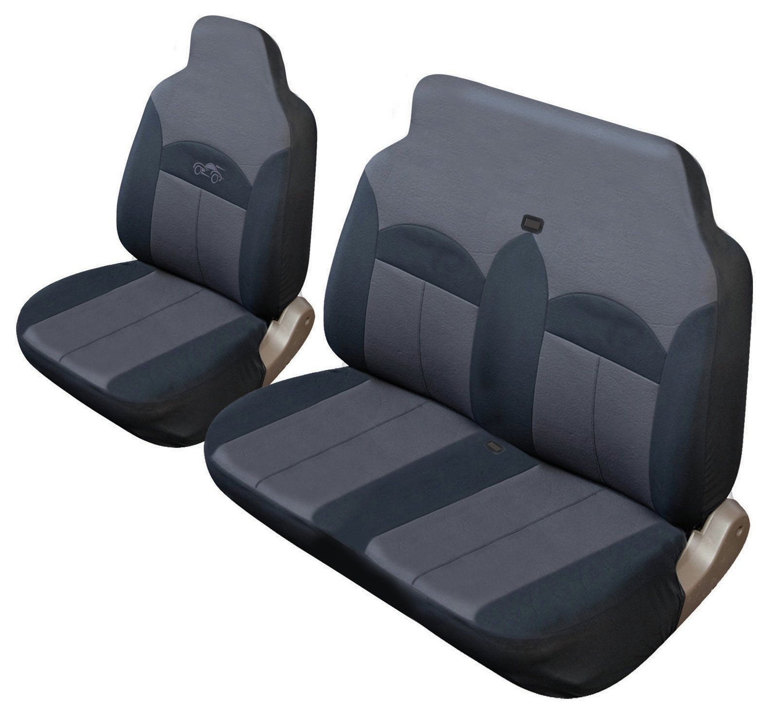 Cosmos Celsius Commercial Seat Cover Set - Black and Grey