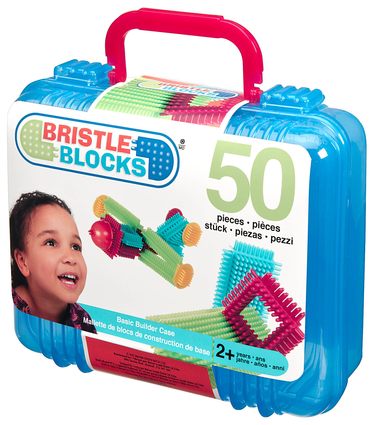 Image of Bristle Blocks Basic Builder Bucket with 50 Pieces.
