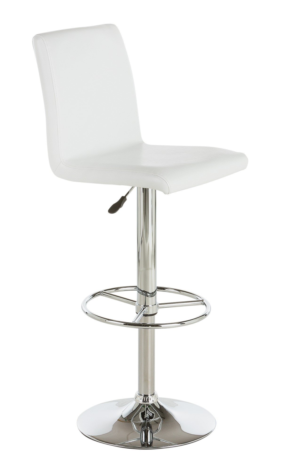 Image of Collection Turner Faux Leather Bar Stool - White