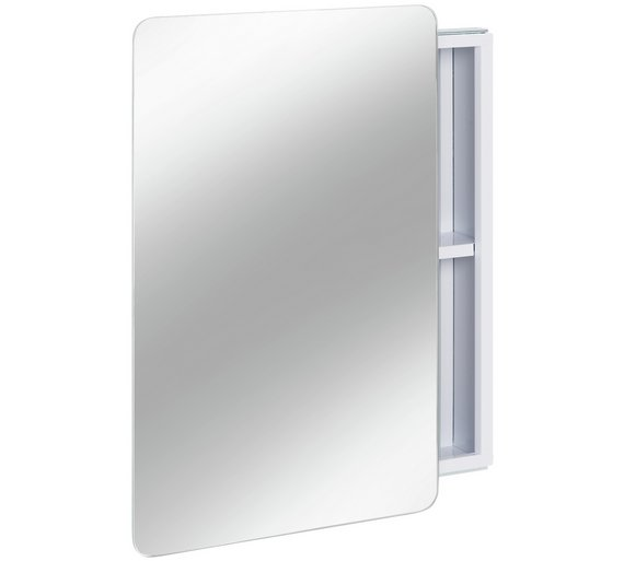 Buy Hygena Sliding Door Mirrored Bathroom Cabinet White Bathroom