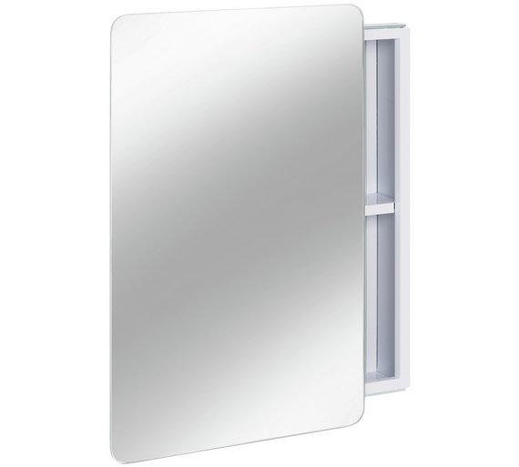 Buy Argos Home Sliding Door Mirrored Bathroom Cabinet White