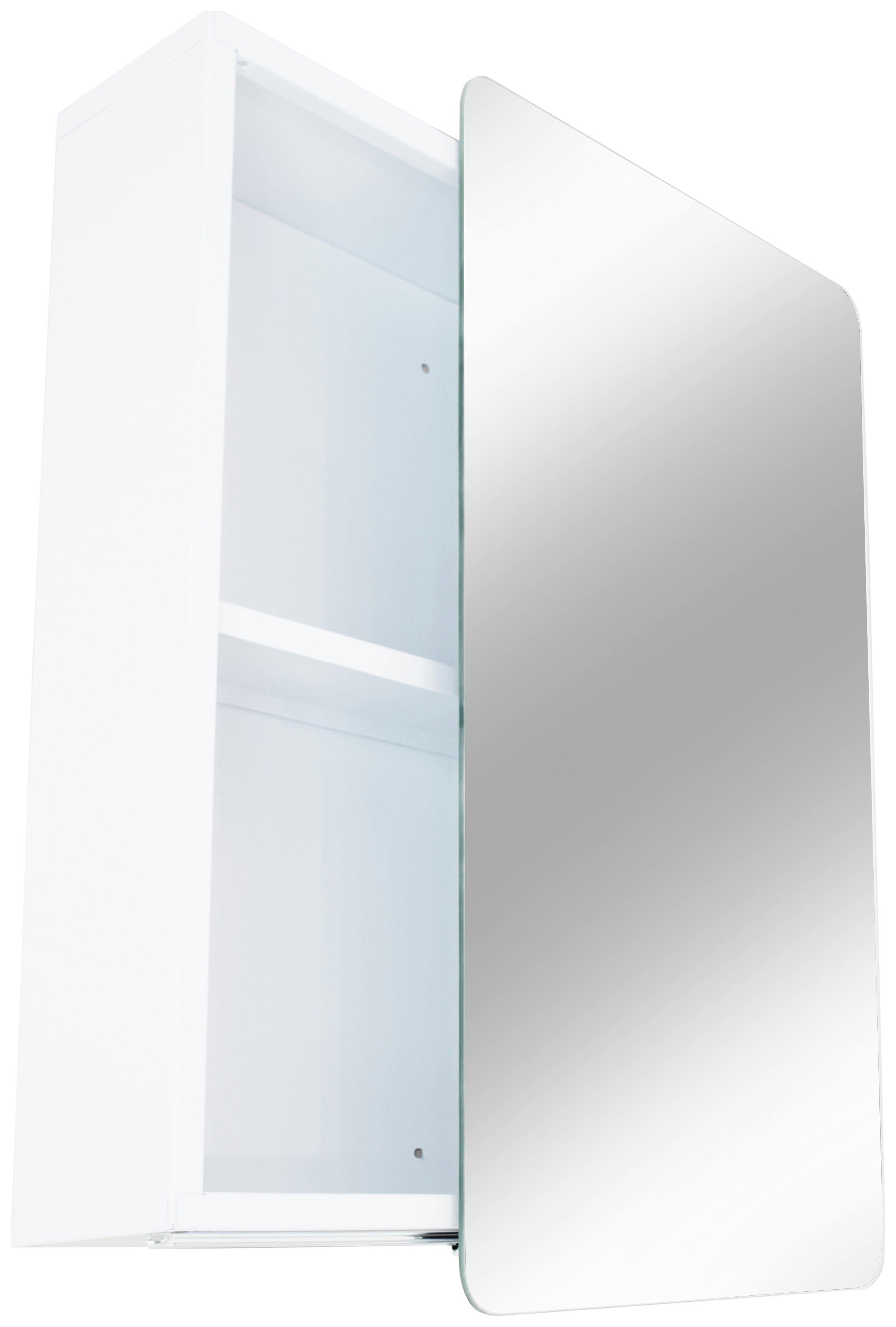 Buy Hygena Sliding Door Mirrored Bathroom Cabinet White Bathroom