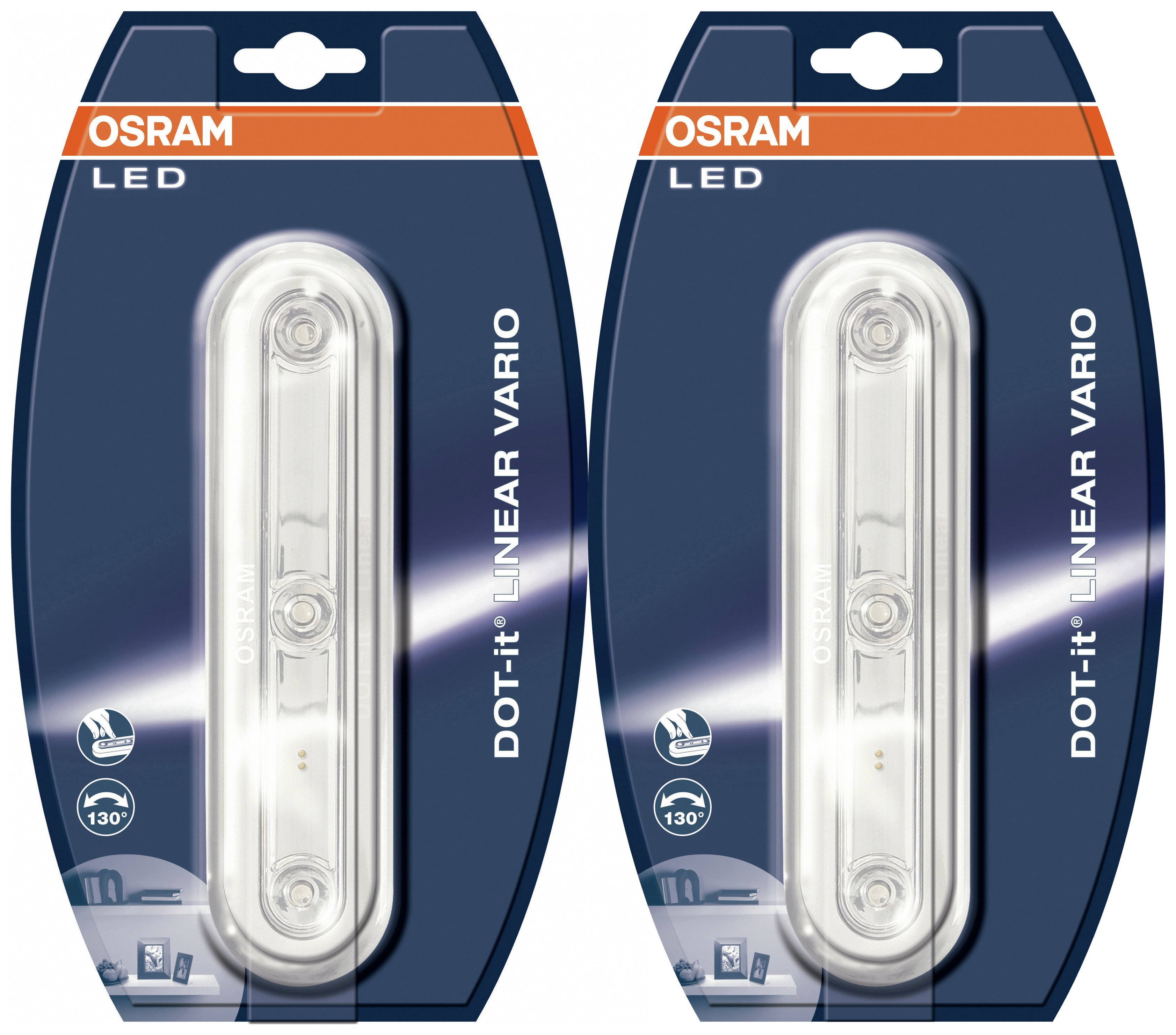 sale on osram dot it linear vario led lights twin pack. Black Bedroom Furniture Sets. Home Design Ideas