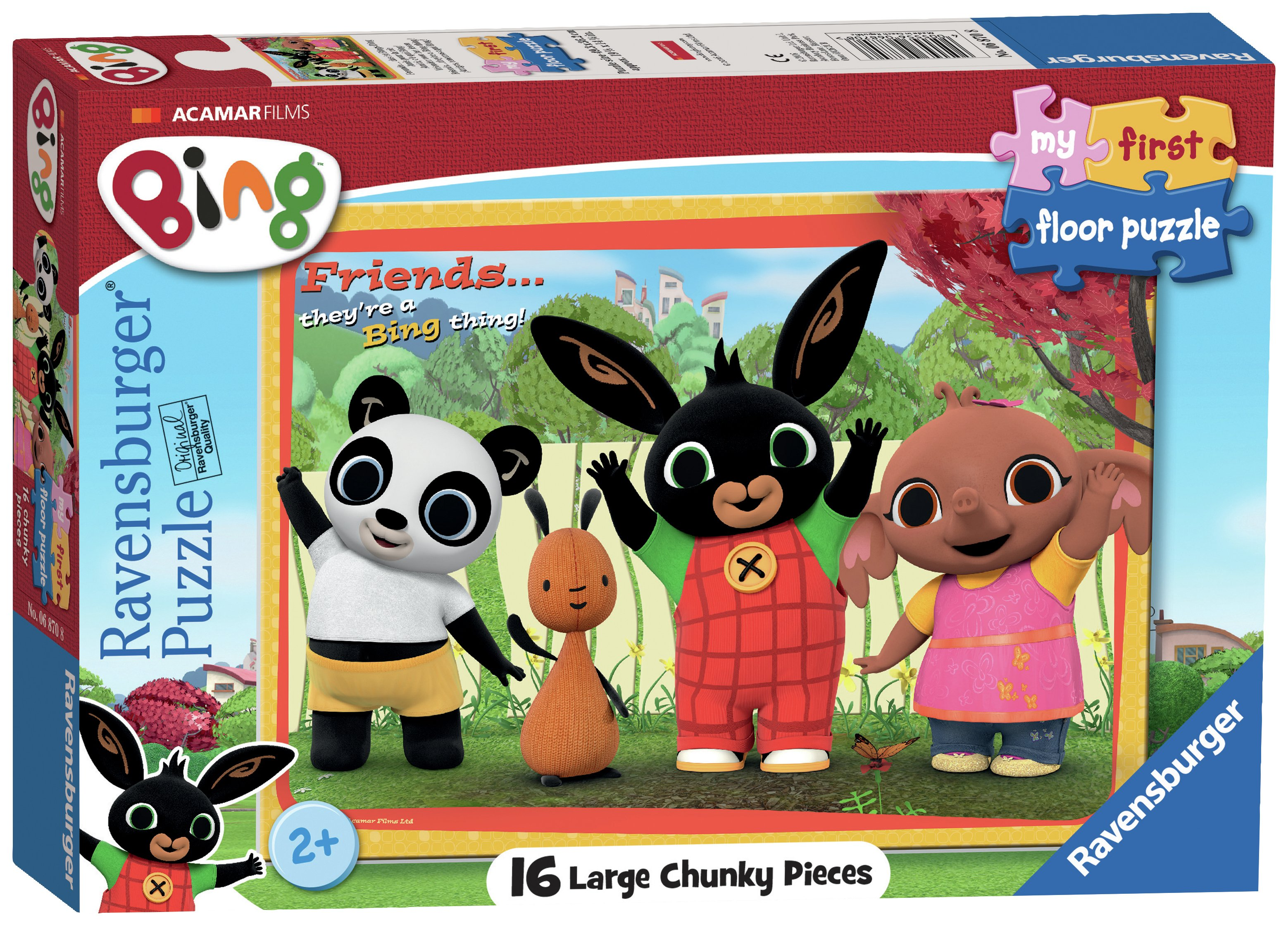 Image of Bing Bunny My First Floor Puzzle 16 Pieces.