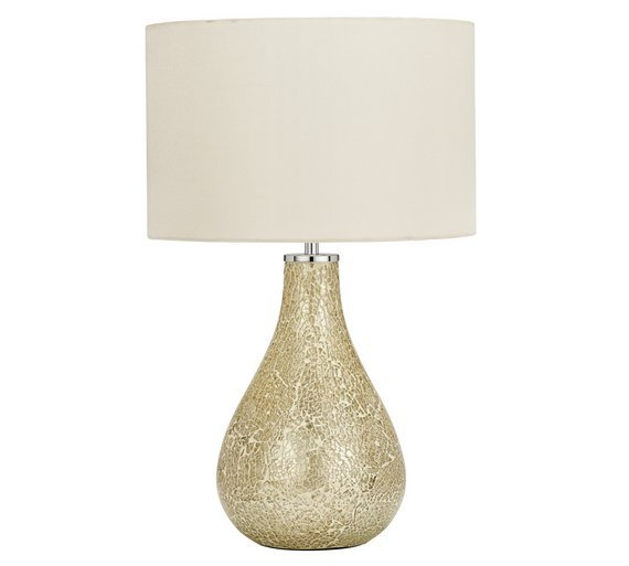 Heart of House Eloise Crackle Table Lamp - Champagne