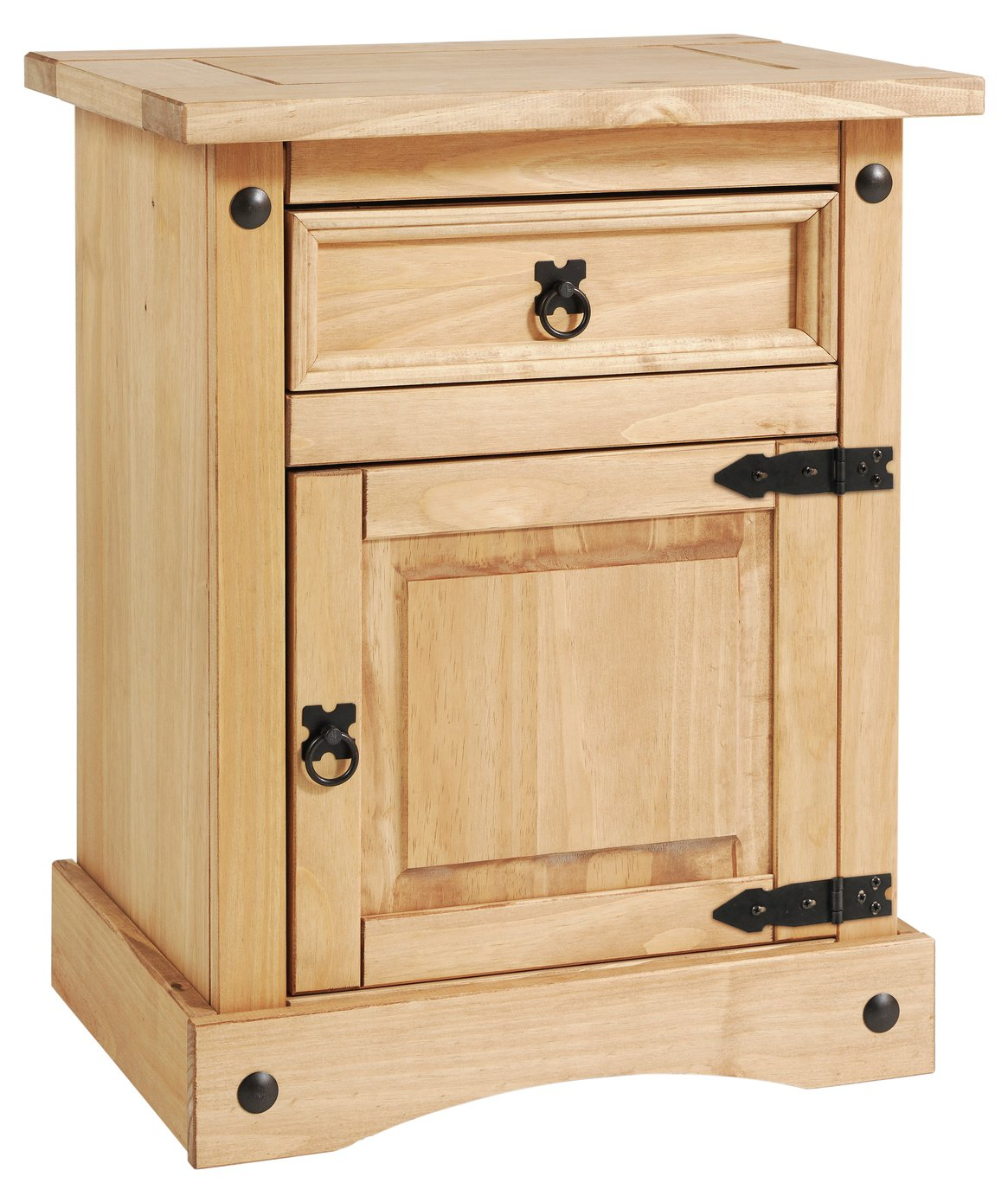 Argos Home Puerto Rico Bedside Table - Light Pine
