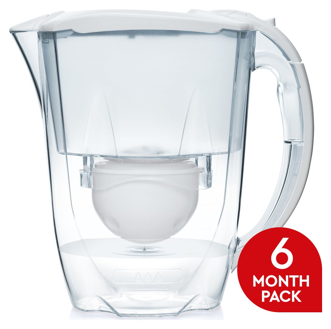 Image of Aqua Optima - Oria White Jug and Cartridges - 3 Pack