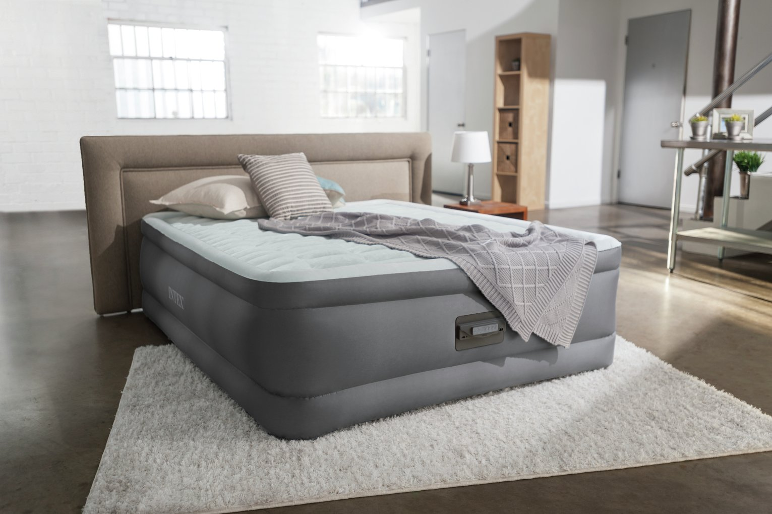 Intex Queen PremAire Raised Air Bed with Pump