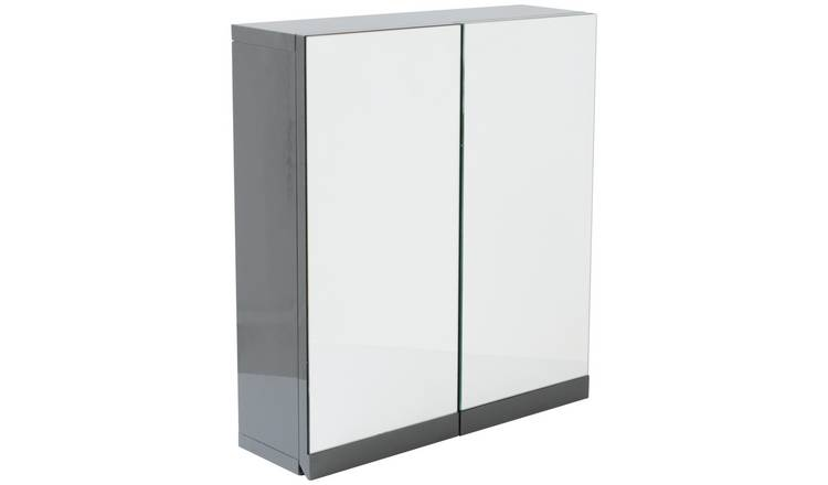 Super Buy Argos Home Gloss Double Door Bathroom Wall Cabinet Grey Bathroom Cabinets Argos Download Free Architecture Designs Lukepmadebymaigaardcom