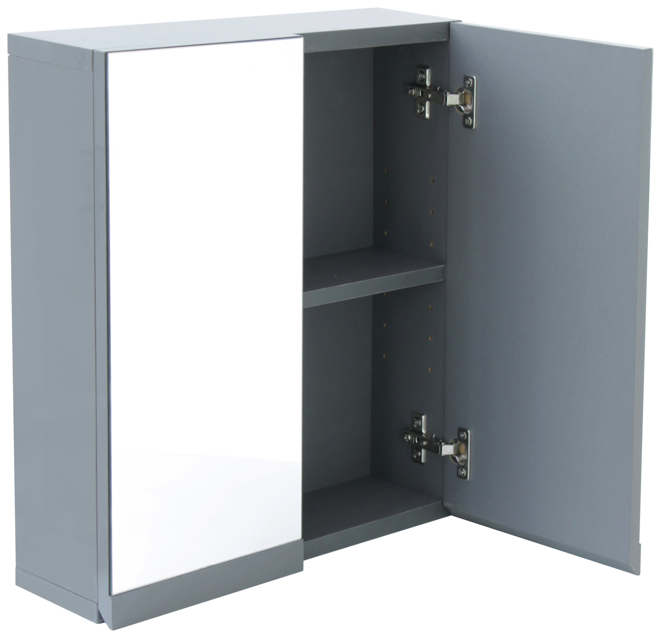 Buy Hygena Gloss Double Door Bathroom Wall Cabinet Grey Bathroom