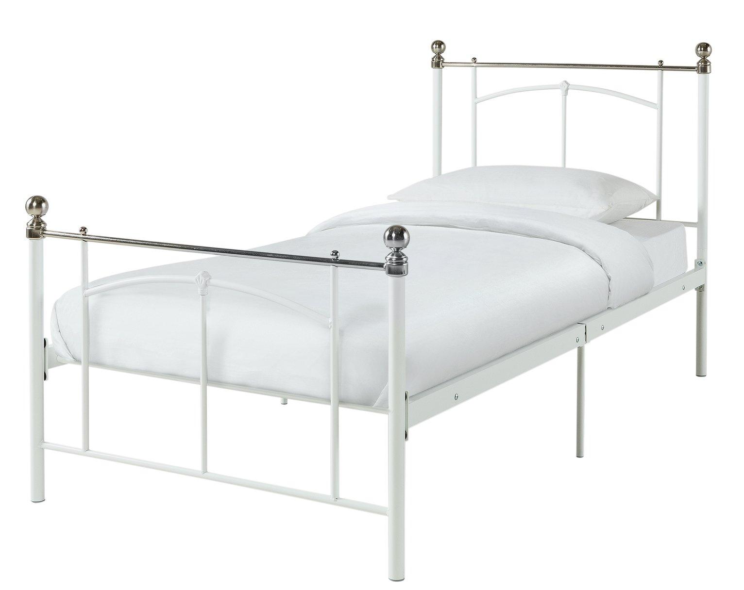 Argos Home Yani Single Bed Frame - White