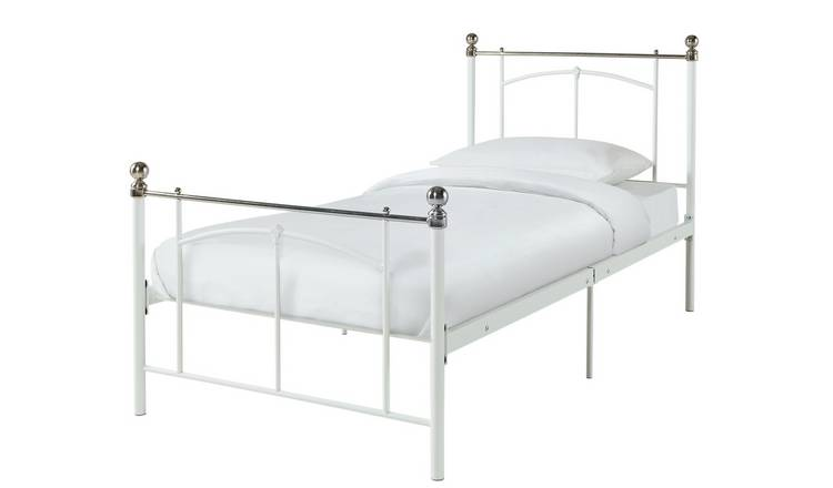 Habitat Yani Single Metal Bed Frame - White