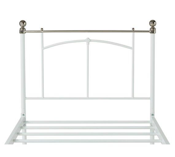 Buy HOME Yani Single Bed Frame - White | Bed frames | Argos