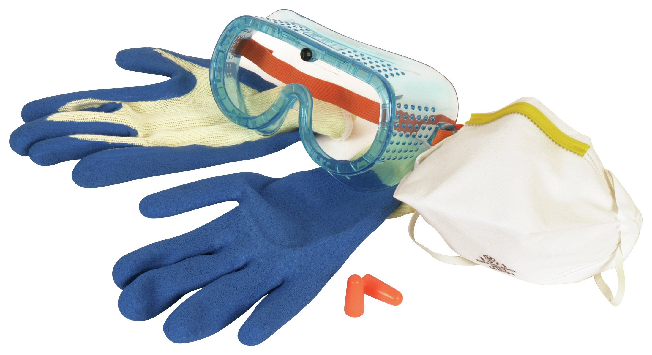 Vitrex Respirator,Goggles, Gloves and Ear Plugs Safety Kit