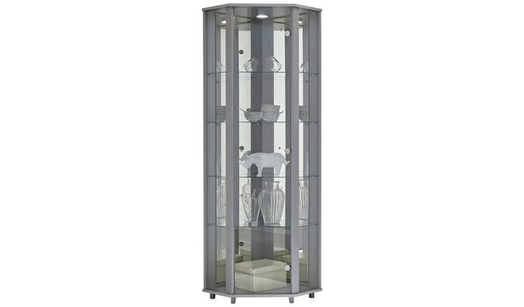 3ab326d34 Argos Home 1 Glass Dr Corner Display Cabinet - Silver Effect613/2288