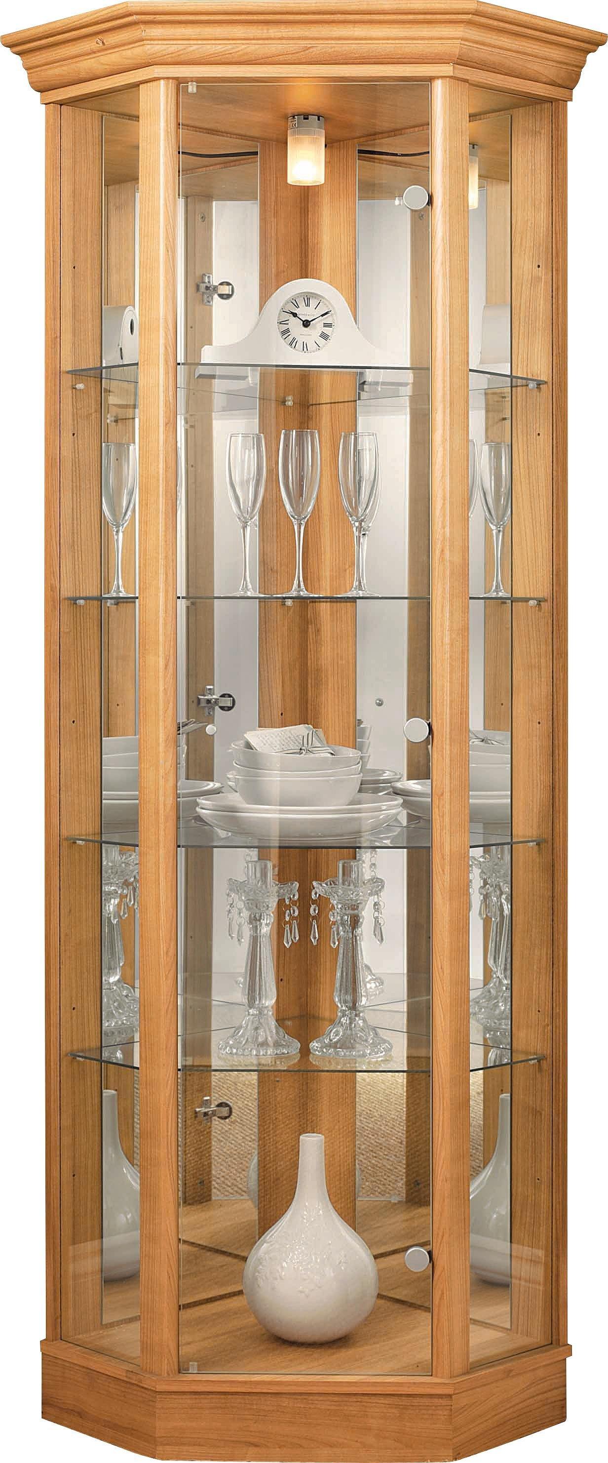 Argos Home Glass Corner Display Cabinet -Light Oak Effect