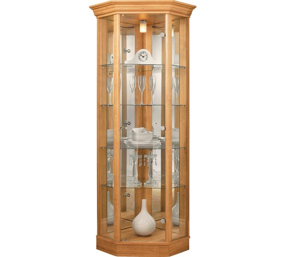Buy HOME Corner Glass Display Cabinet