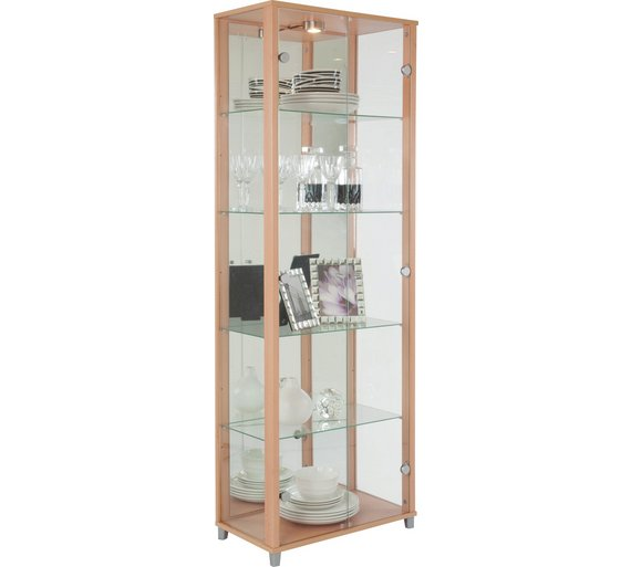 Buy Argos Home 2 Door Glass Display Cabinet Beech Effect Display