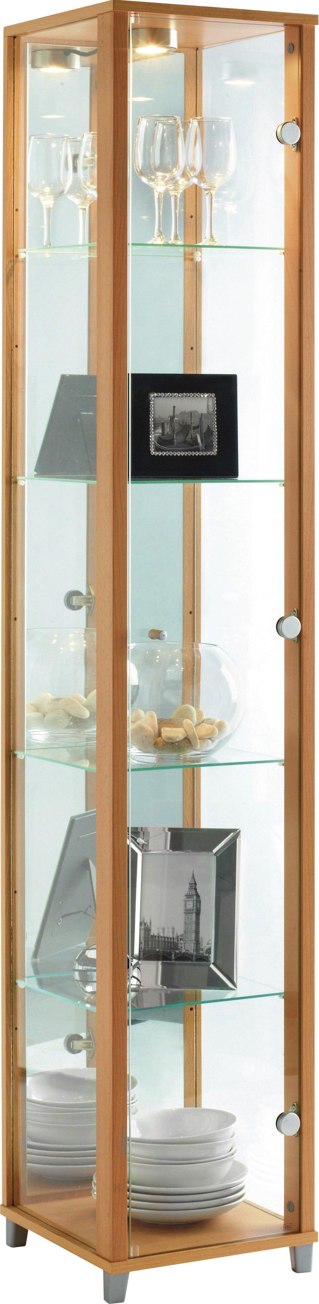 Argos Home 1 Glass Door Display Cabinet - Beech Effect