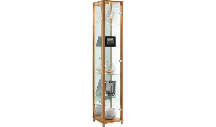 Argos Home 1 Glass Door Display Cabinet - Beech Effect